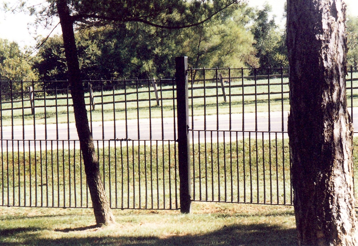 This rifle barrel fence was constructed of parts from 2,563 Civil War rifles. August A. Busch Sr. had this built to honor the veterans from that era.