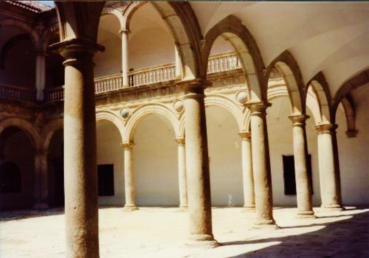 Museum of Taverna in Toledo, Spain. Used to be a hospital. Ancient records are kept in beautifully handwritten, centuries-old books. Wonderful collection of paintings. One wing is still utilized as a school run by nuns.