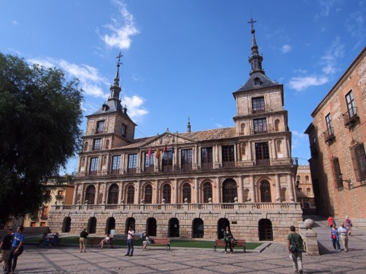 The Ayuntamiento or City Hall was built in the 16th century. The Ayuntamiento or City Hall was built in the 16th century in Toledo, Spain.