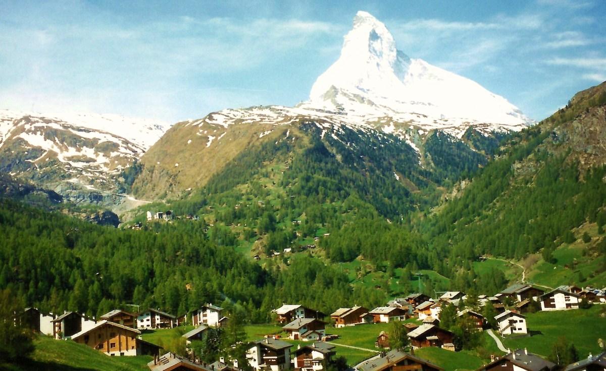 Photo of snow capped Matterhorn