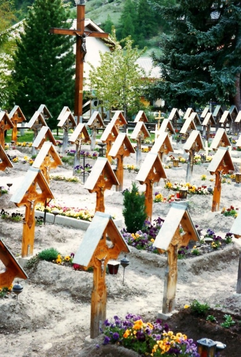 Photo of cemetery in Tasch