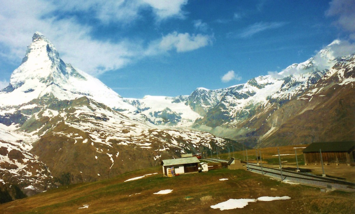 Photo of scenery while on the Glacier Express from Tasch to Zermatt