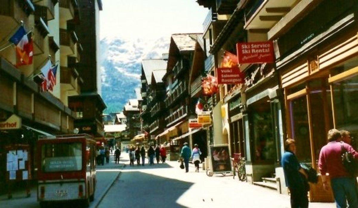 Street scenery in Zermatt