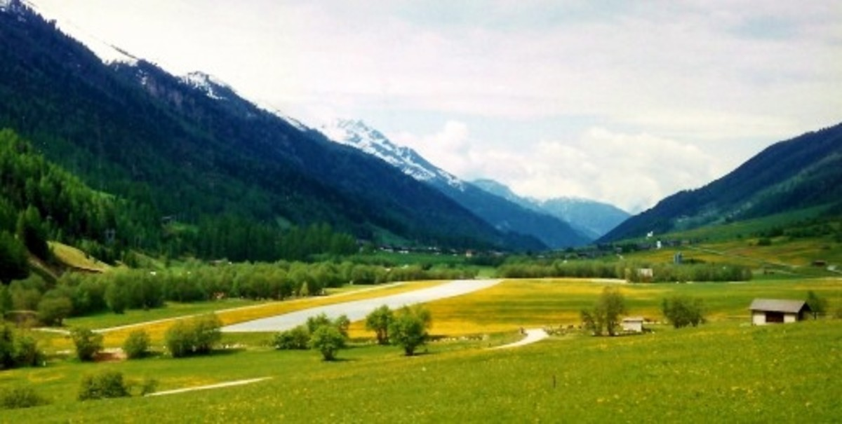 Such gorgeous scenery in Switzerland as viewed from the Glacier Express Train.