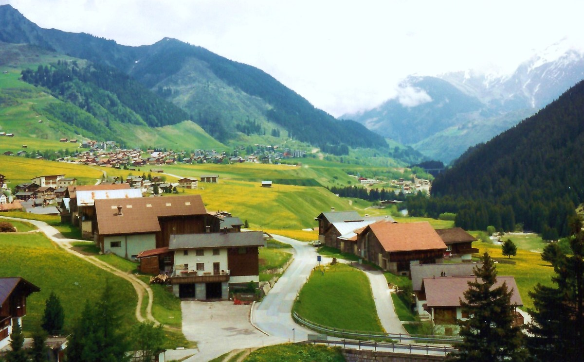 Near the town of Disentis
