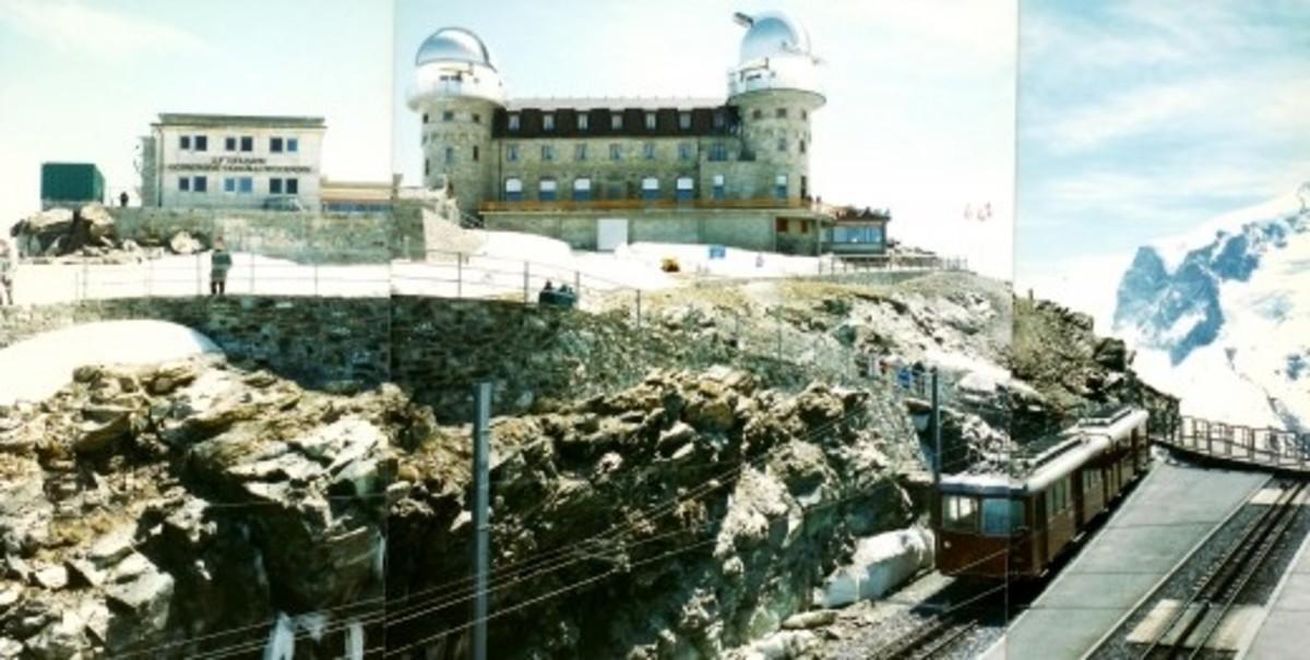 Up at Gornergrat / High Altitude Research Station / Matterhorn - 3 photos pieced together
