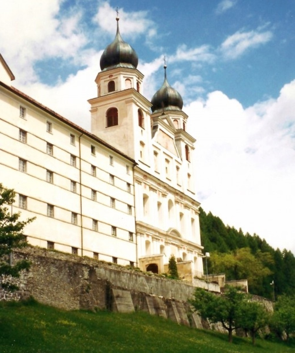 Photo of Benedictine Abbey and Church in Disentis, Switzerland