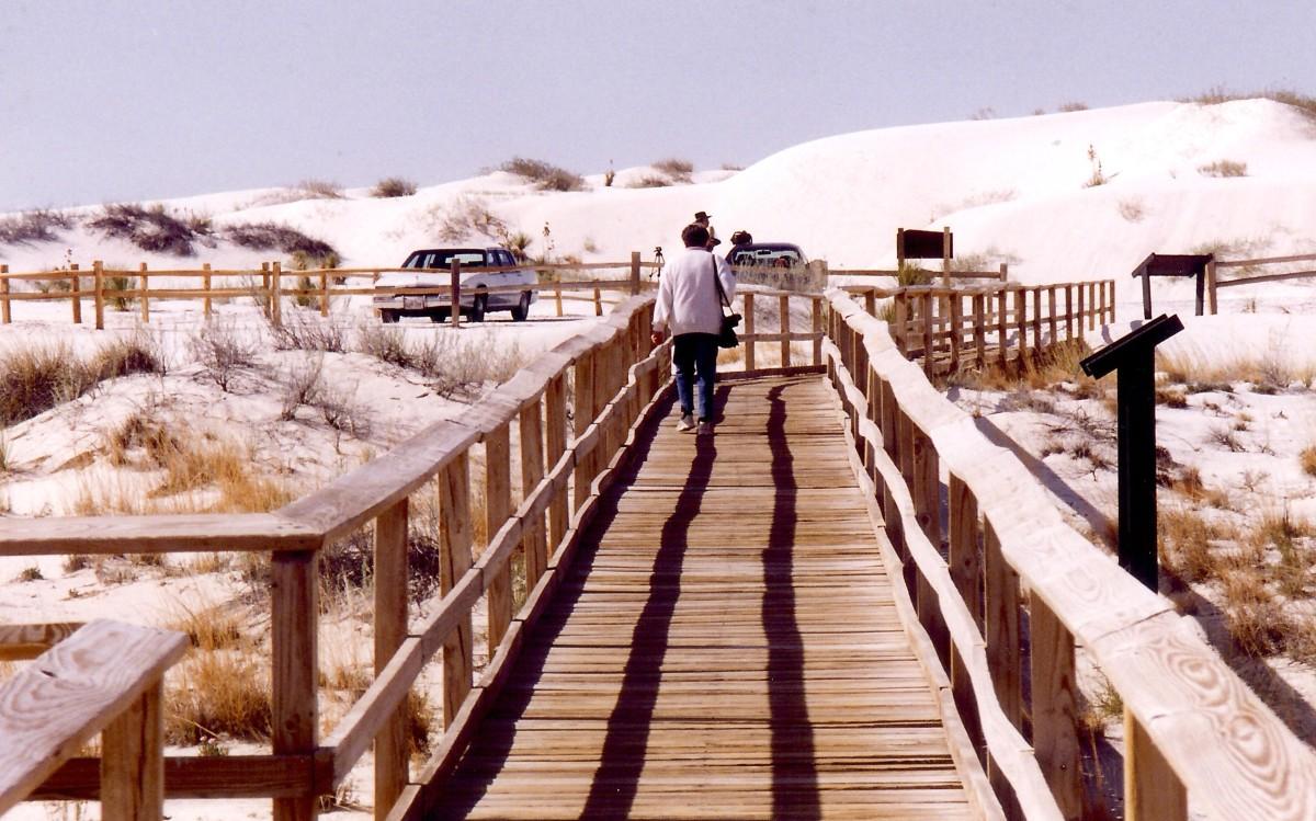 Interdune Boardwalk at White Sands National Monument