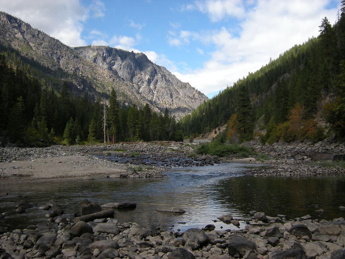 Wenatchee River west of Leavenworth, Washington.
