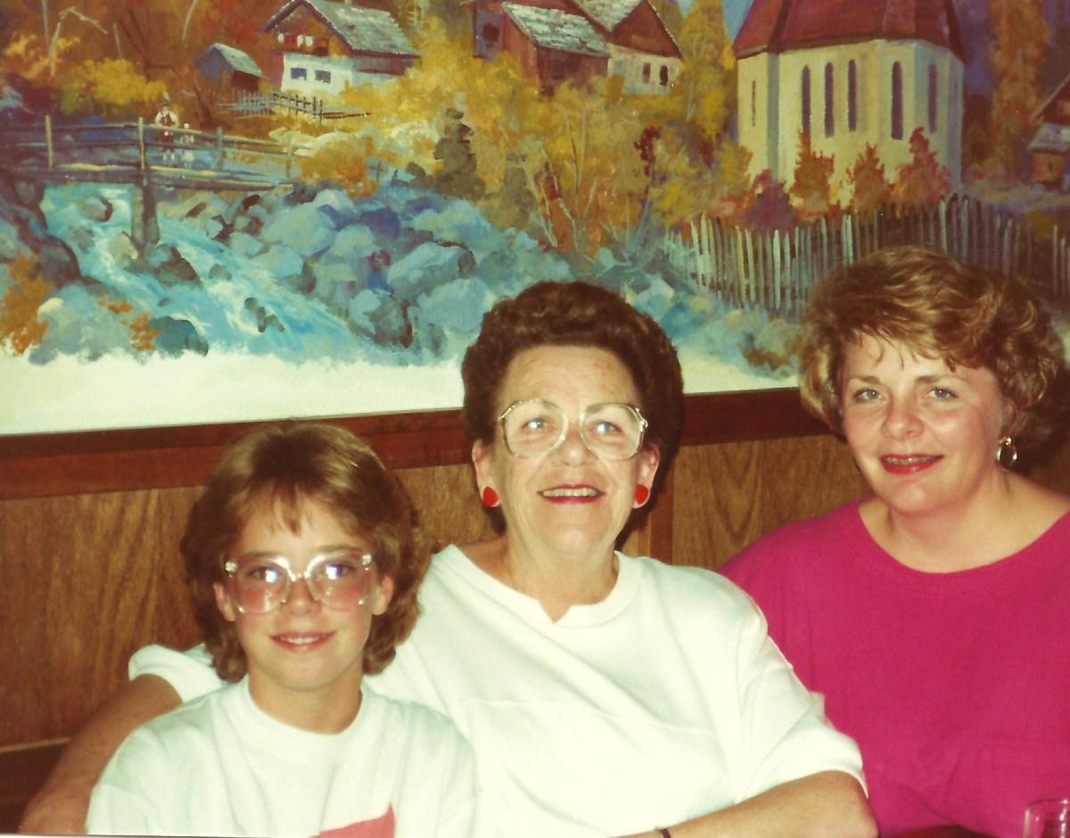 The 3 of us in the Reiner's Gasthaus Restaurant in Leavenworth, Washington
