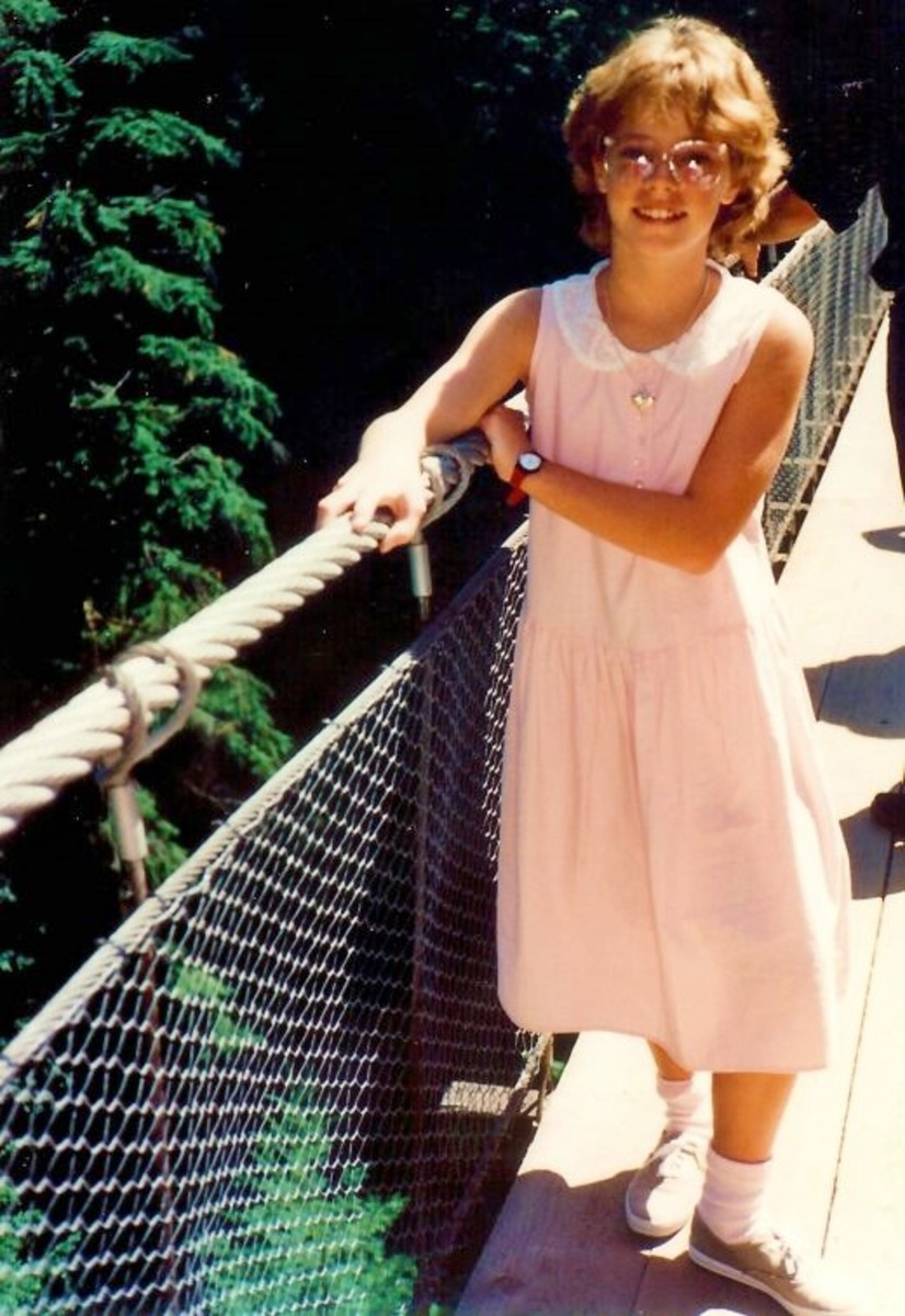 My pretty niece on the Capilano Suspension Bridge