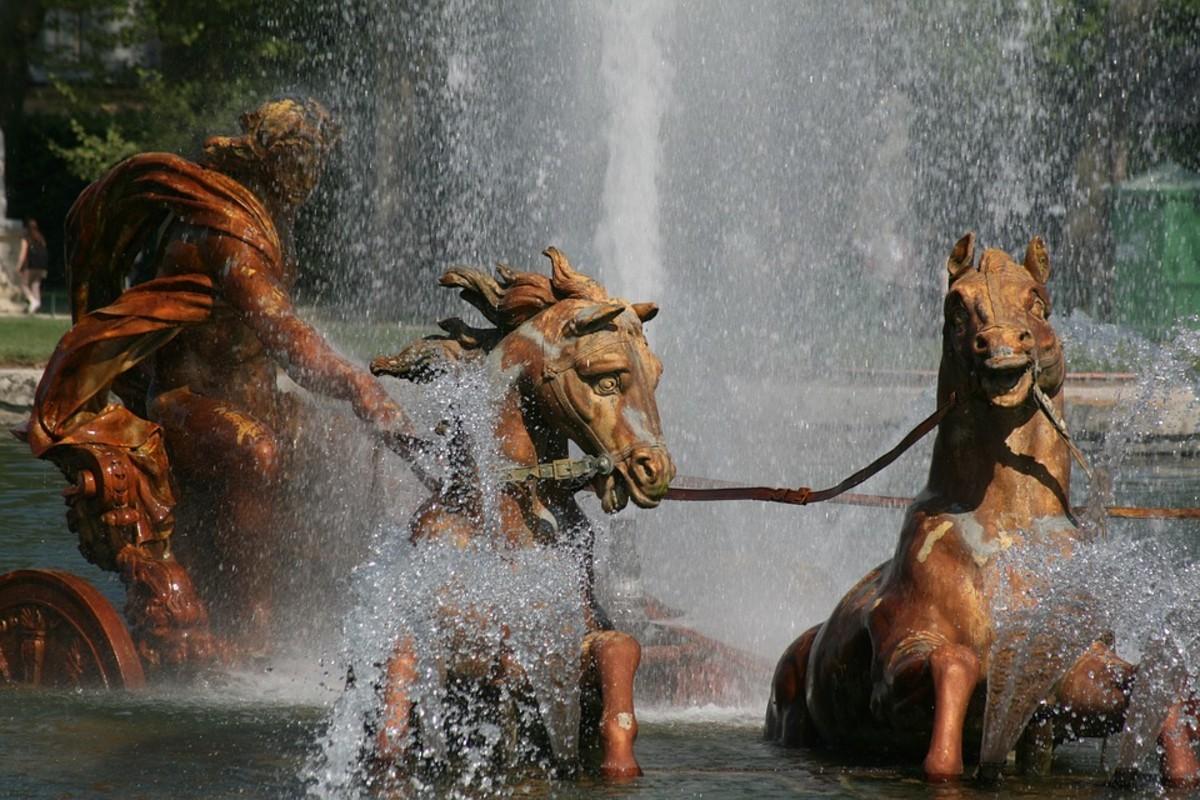 Detail of the Apollo Fountain