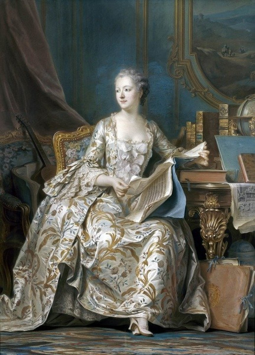 One of many stunning portraits in the Chateau. this one representing Madame de Pompadour.