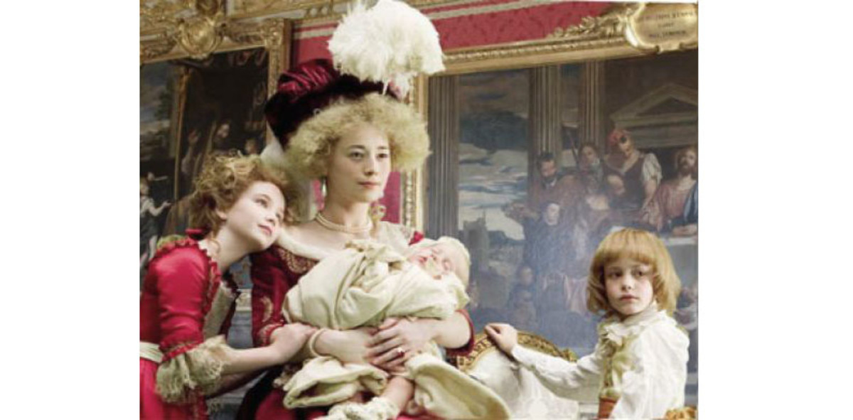 Remarkable and lifelike portrayal of Marie Antoinette and family, in wax, in the Palace of Versailles.