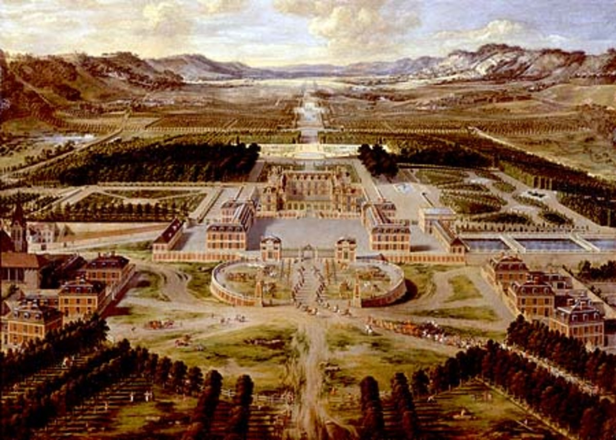 Early representation of the Palace of Versailles.