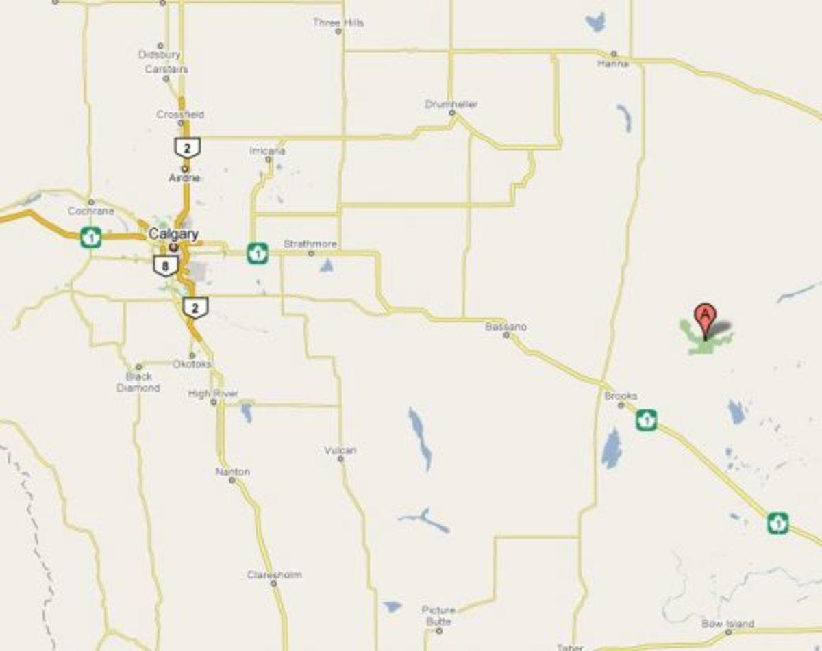 Map: Dinosaur Provincial Park