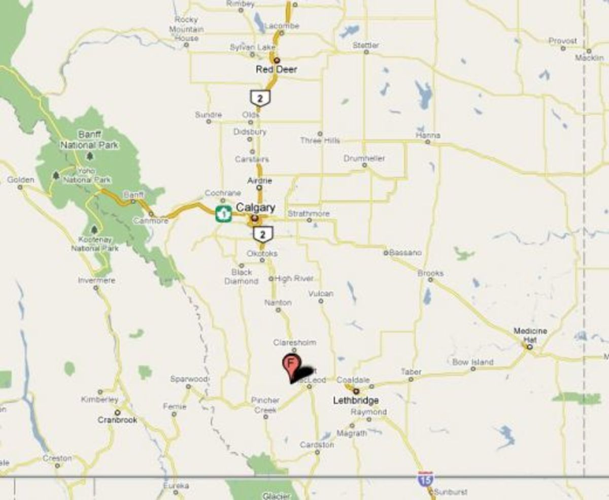 Map: Head Smashed-in Buffalo Jump