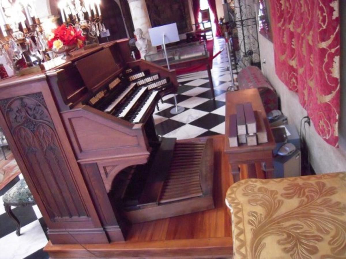 An organ in The Ca' d'Zan, Sarasota, Florida, USA