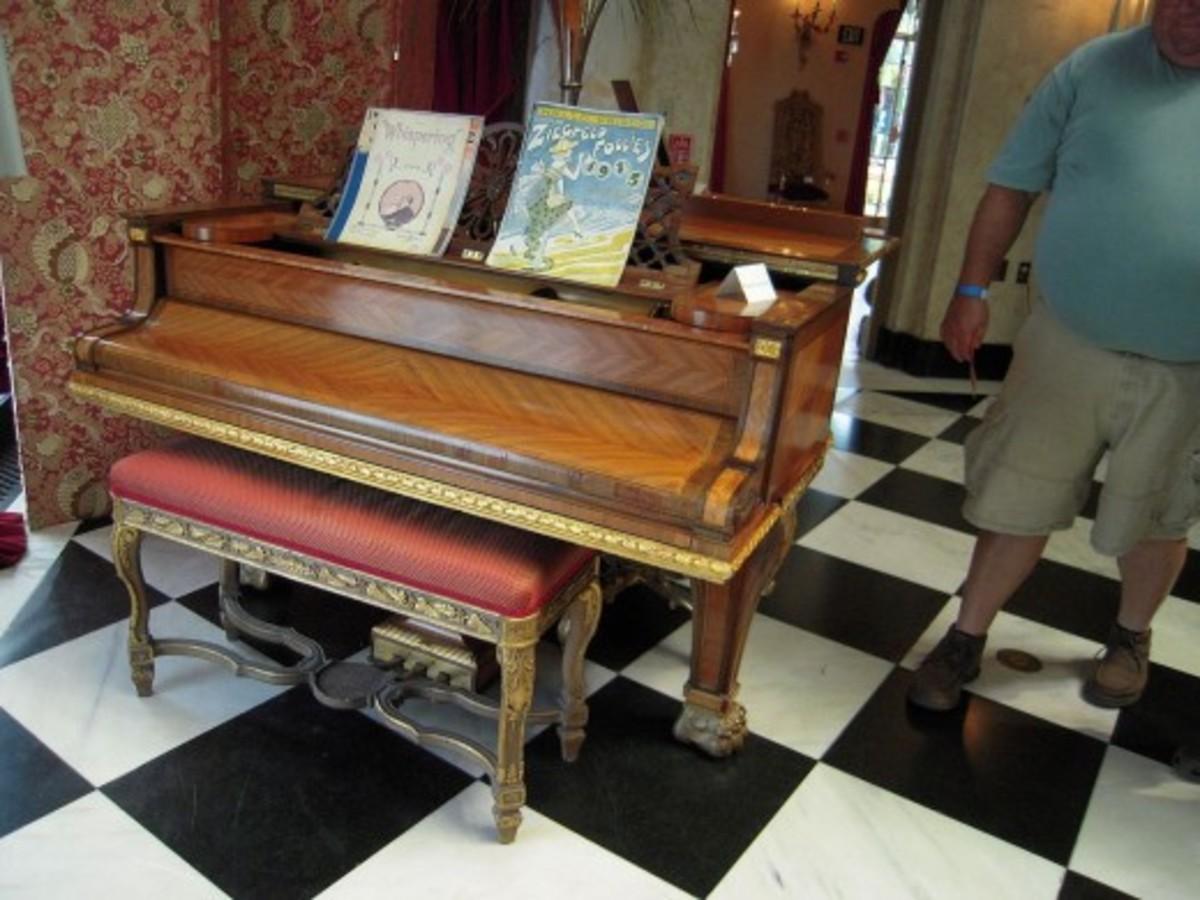 A Piano in The Ca' d'Zan, Sarasota, Florida, USA
