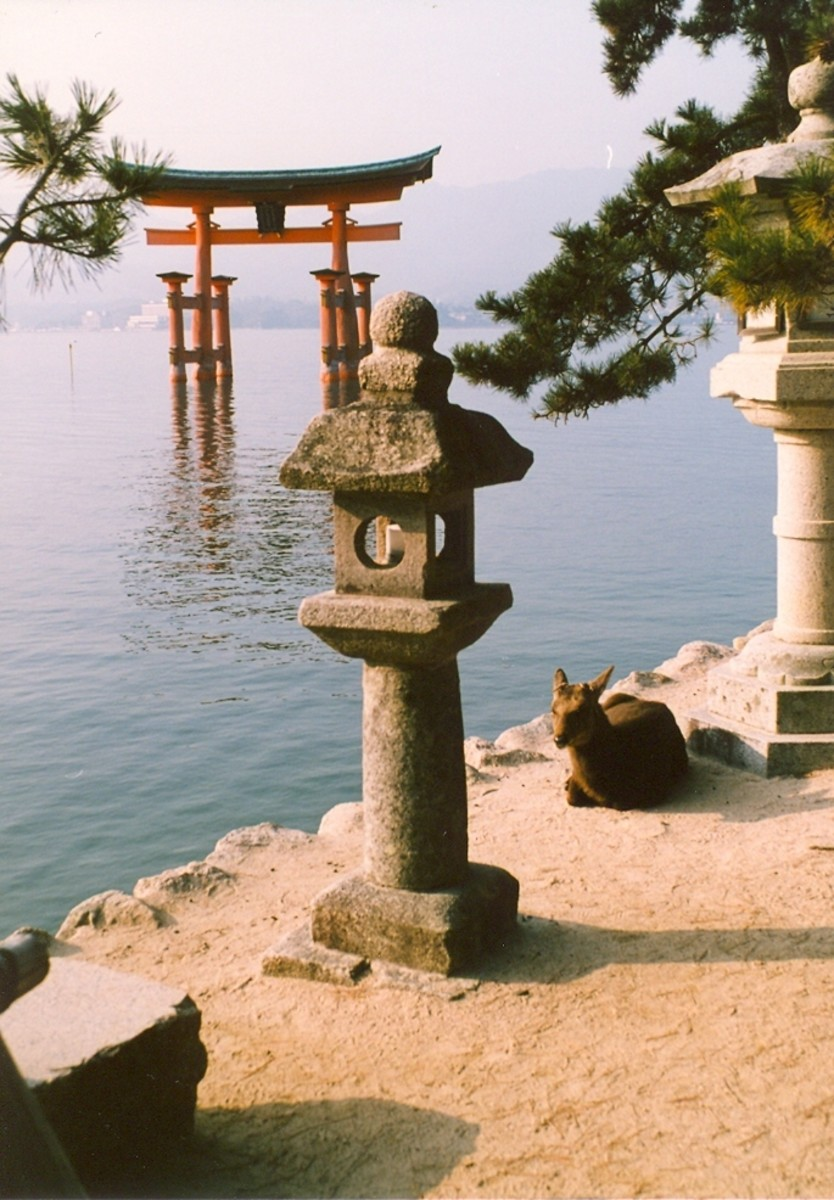 "The famous ""Floating Torii"" of Miyajima."