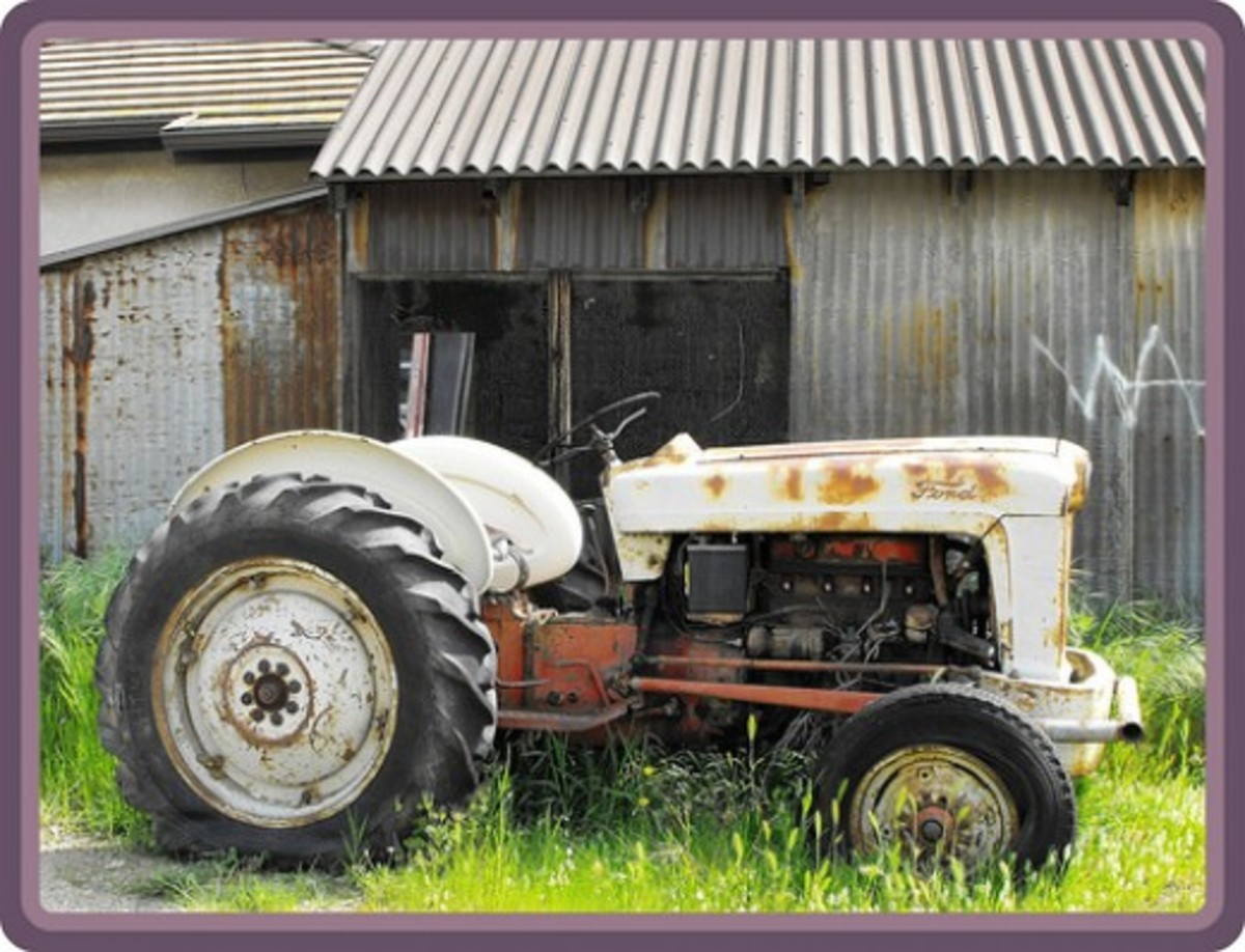 A citrus grove tractor. La Verne, CA. Half mile from Old Route 66.
