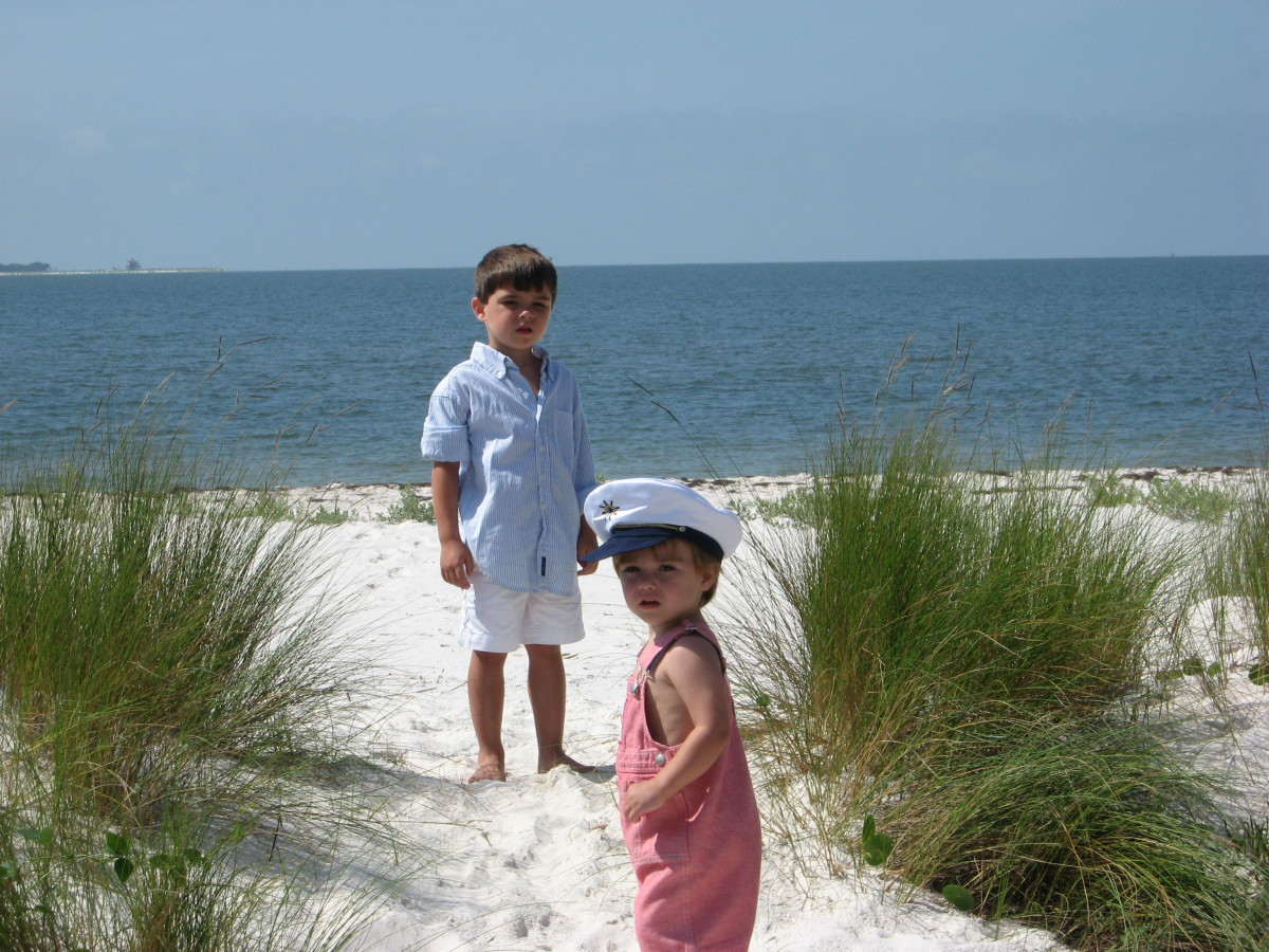 Two of the grandkids enjoying the beach.