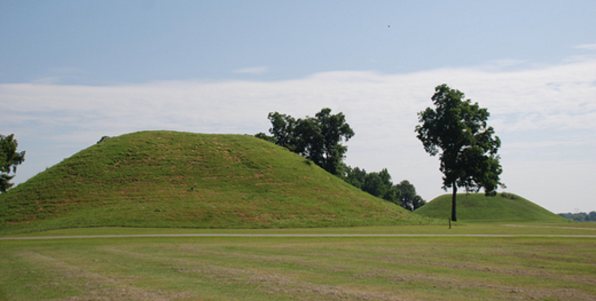 Native American mounds in Mounds State Park.