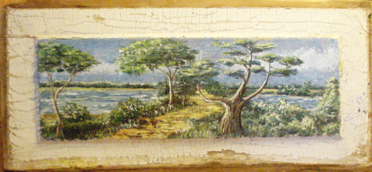 Church Point at St. Mary's on the St. Mary's River (painting by Dolores Monet)