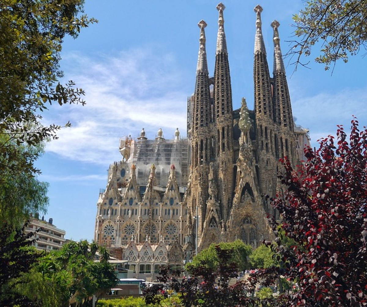The Sagrada Familia Cathedral in Barcelona