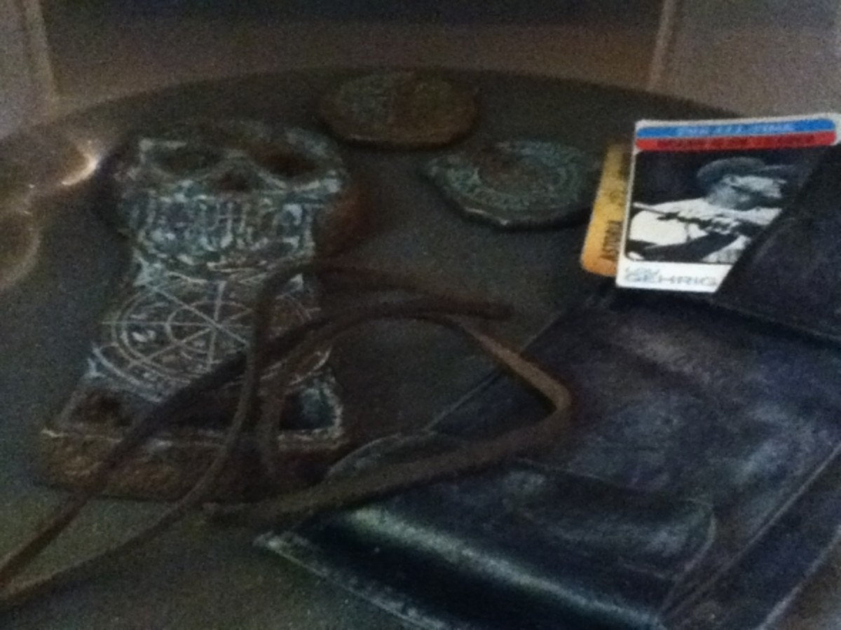 Chester Copperpot's wallet, the pirate doubloon from the treasure map, and the skeleton key!