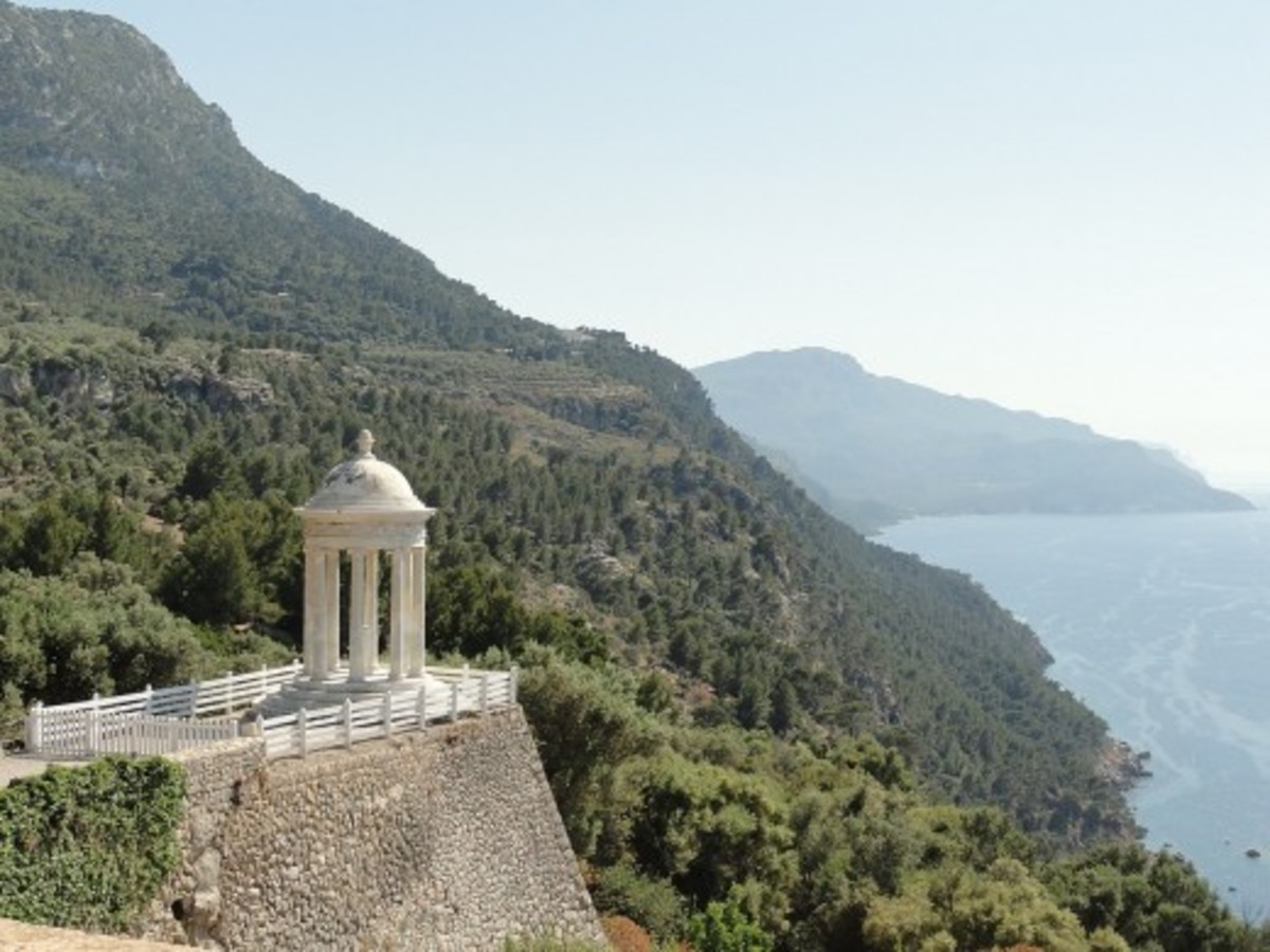 View of temple at Son Marroig