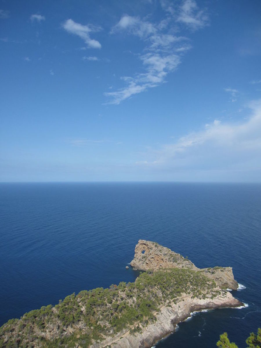Na Foradada means the perforated rock - This was down below the Ionic temple and Son Marroig on the Island of Mallorca