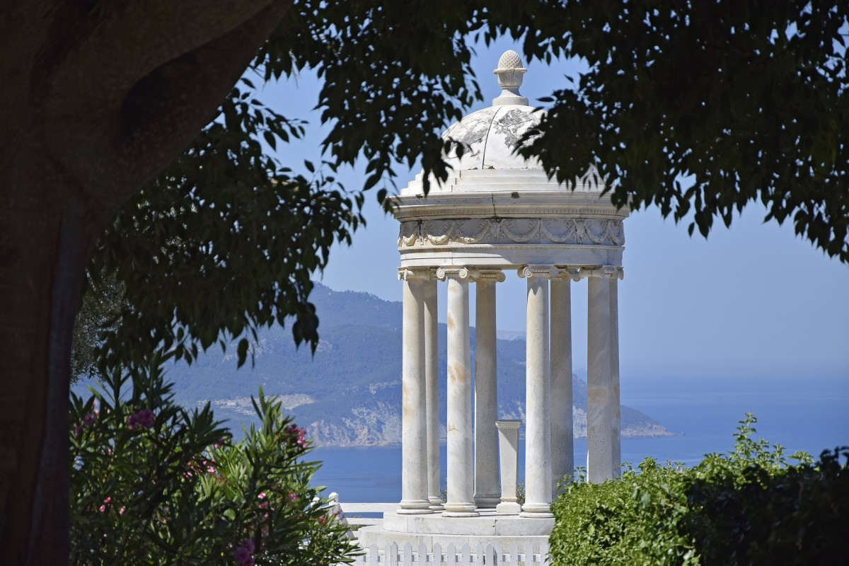 Ionic temple at Son Marroig on the Island of Mallorca