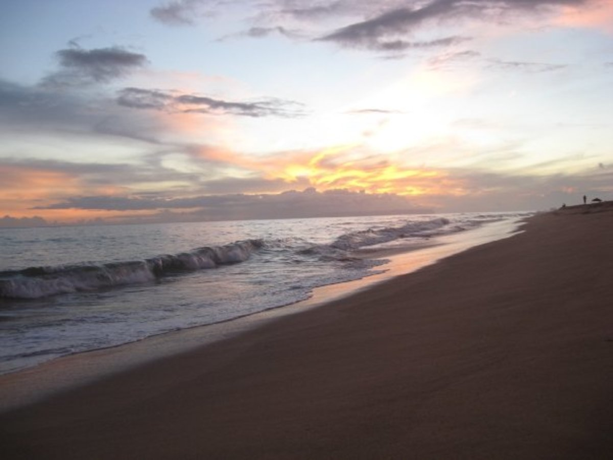 sunset at Kekaha Beach