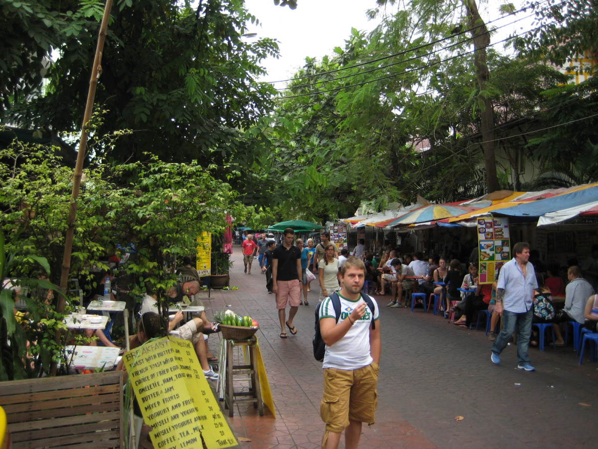 Soi Rambuttri - Another popular tourist hang out near Khao San road.