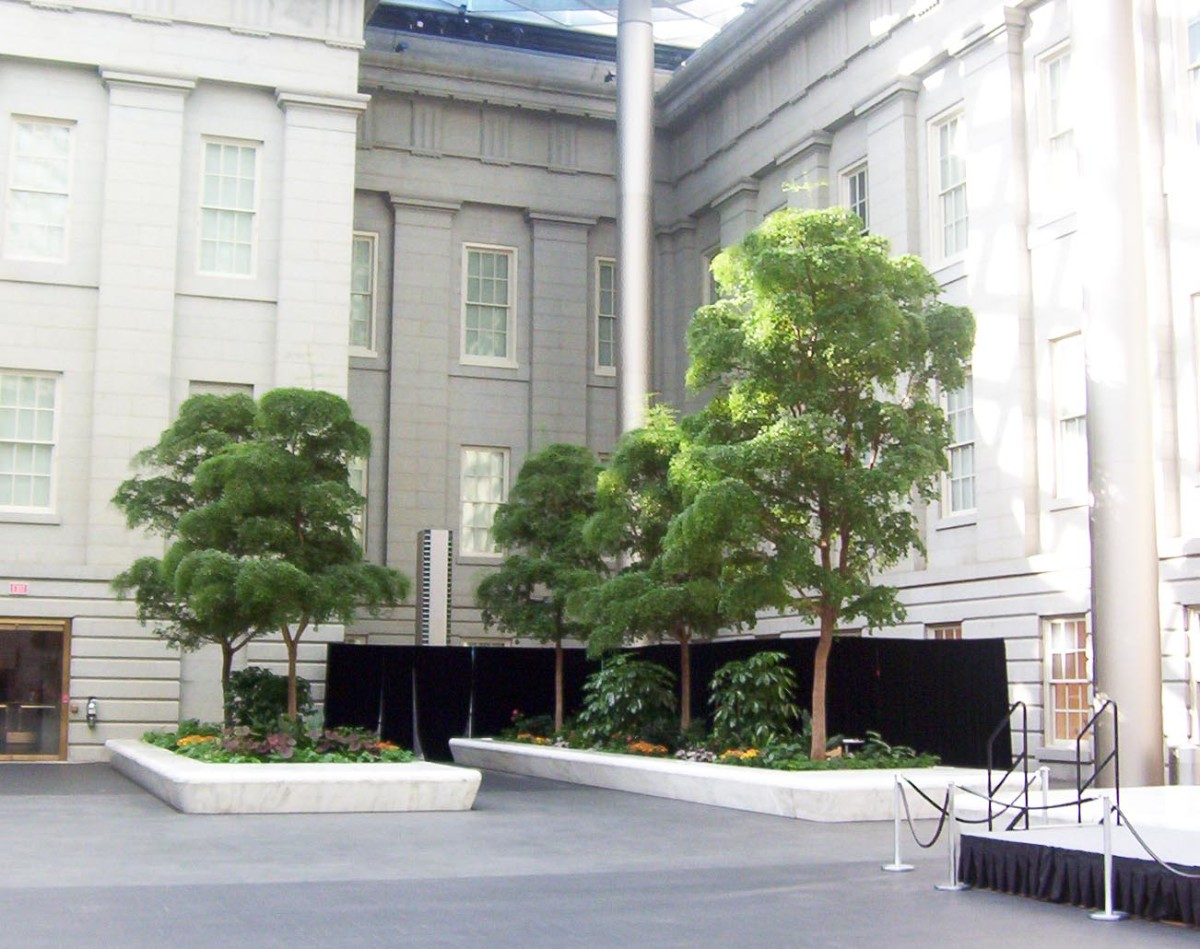 The courtyard at the National Portrait Gallery