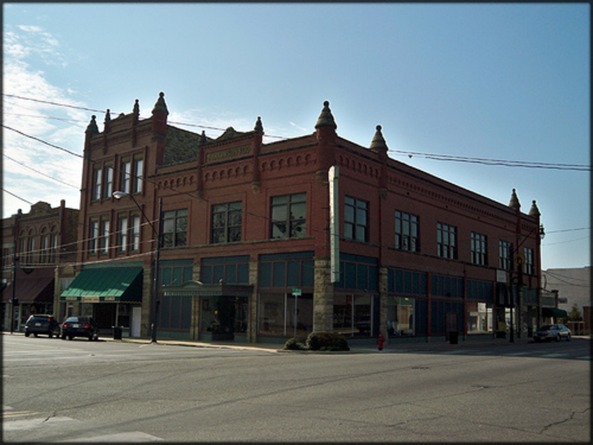 The Parkinson Building in historic Downtown Okmulgee is one of the most famous buildings in the area.  The architecture is absolutely stunning.