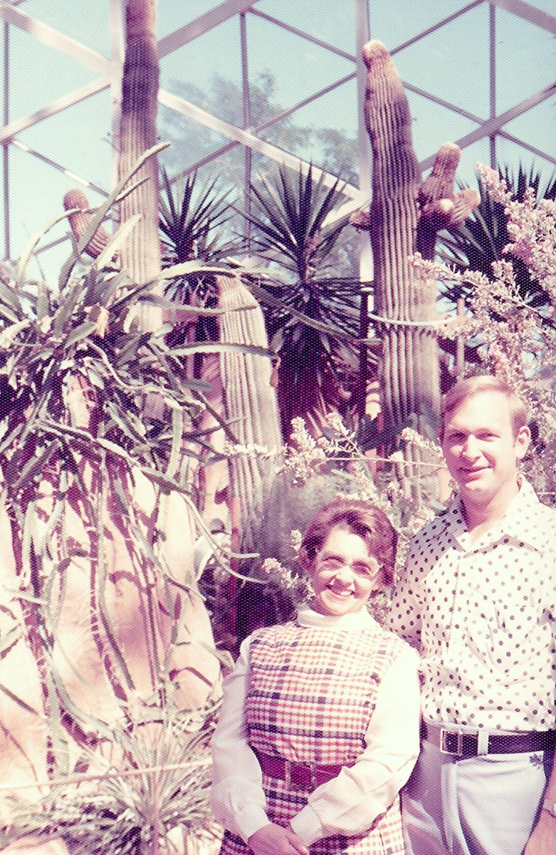 My husband and mother-in-law in the Arid Dome...many years ago when we visited Mitchell Park.
