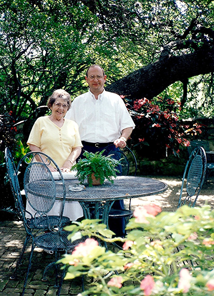 My mother-in-law and hubby at the Gazebo area in Los Patios.  We often dined there through the years.