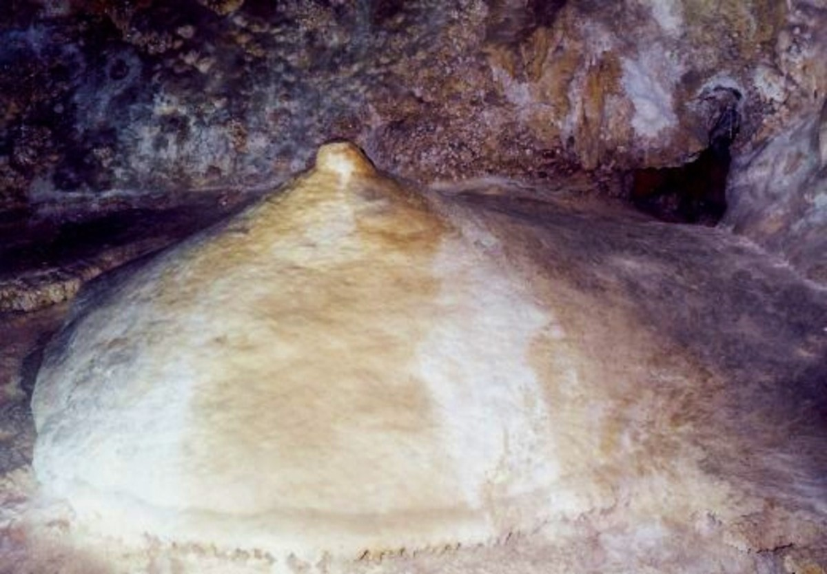 This formation is called Venus' breast in Carlsbad Caverns