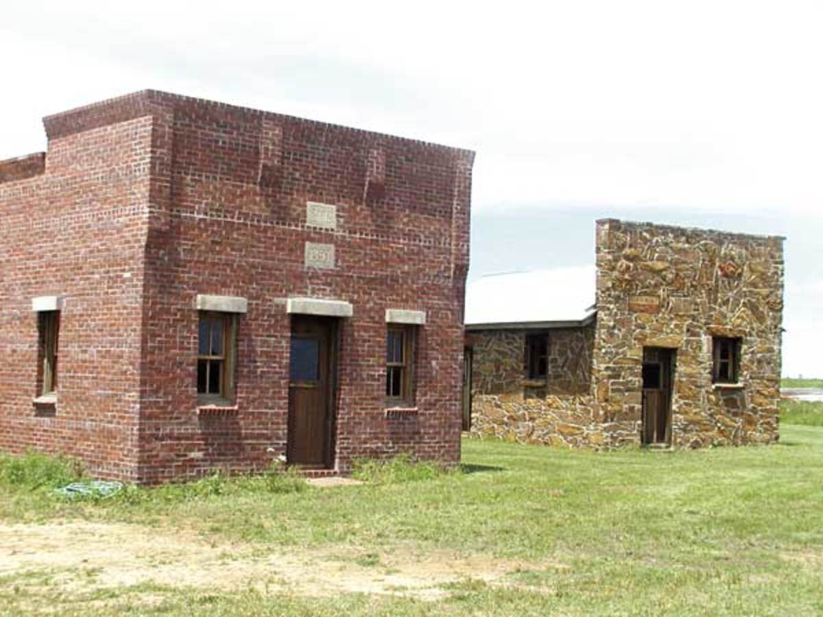 Oklahoma Attractions: Two buildings that were authentically recreated at Prairie Song Village Museum.
