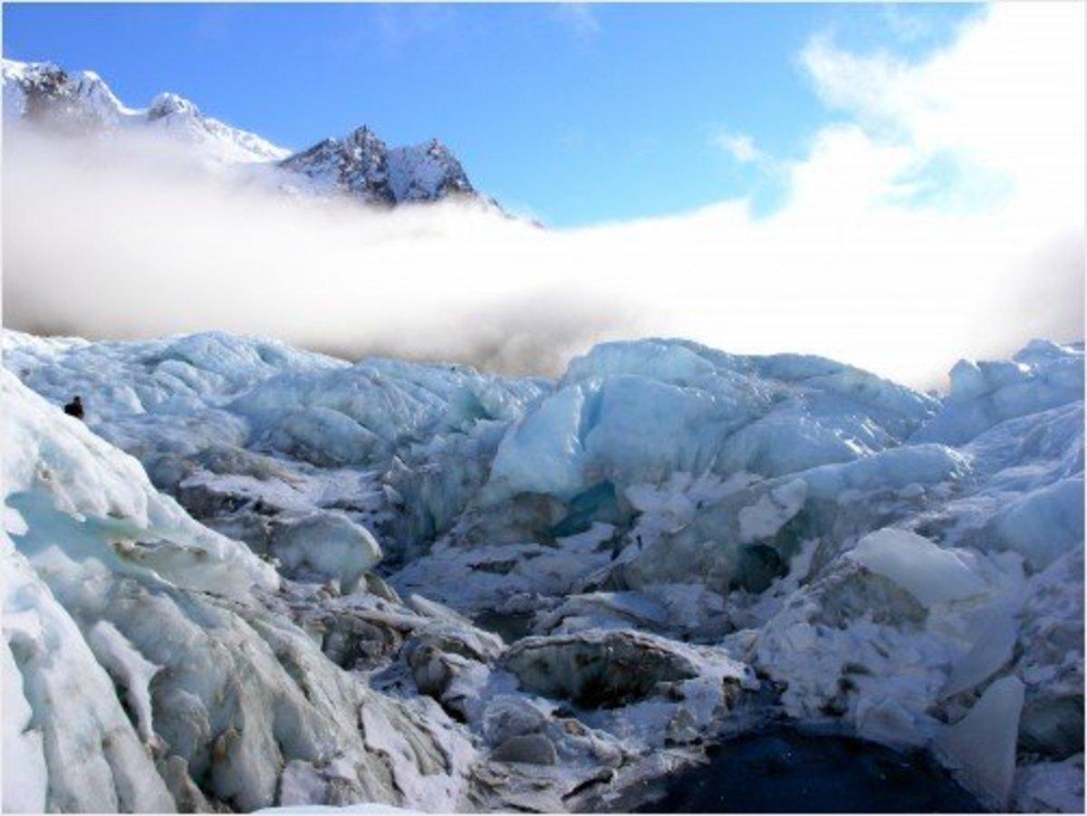 Clouds over Franz Josef Glacier, New Zealand