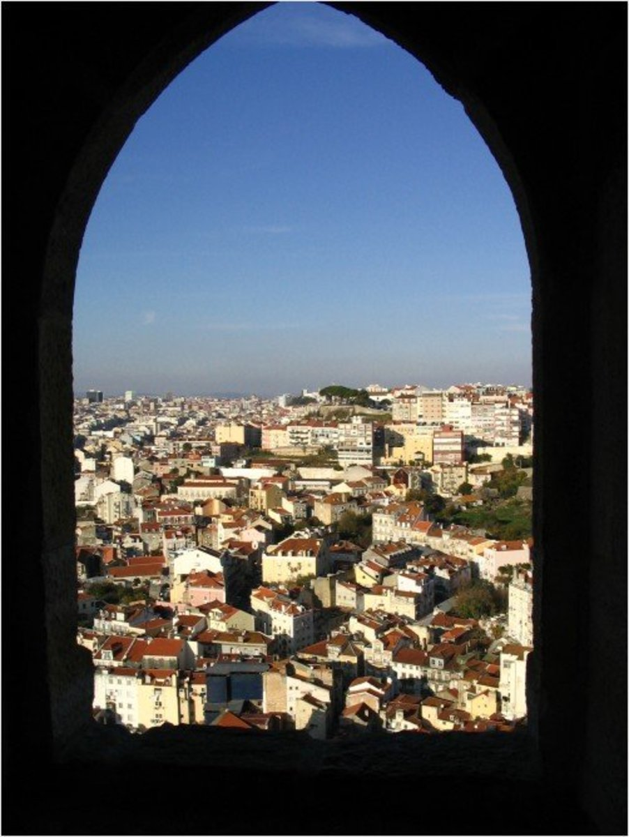 View of Lisbon from St George's Castle