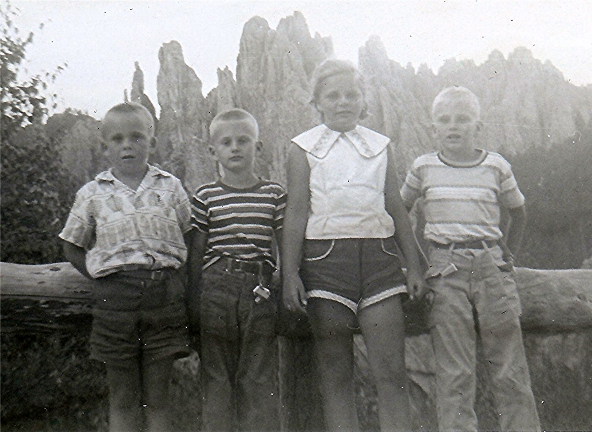 """Johnny, Billy, Peggy & Tommy along Needles Highway"""