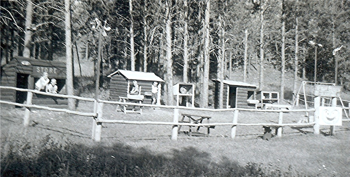 Children's play area next to the cabins where we stayed while in the Black Hills.