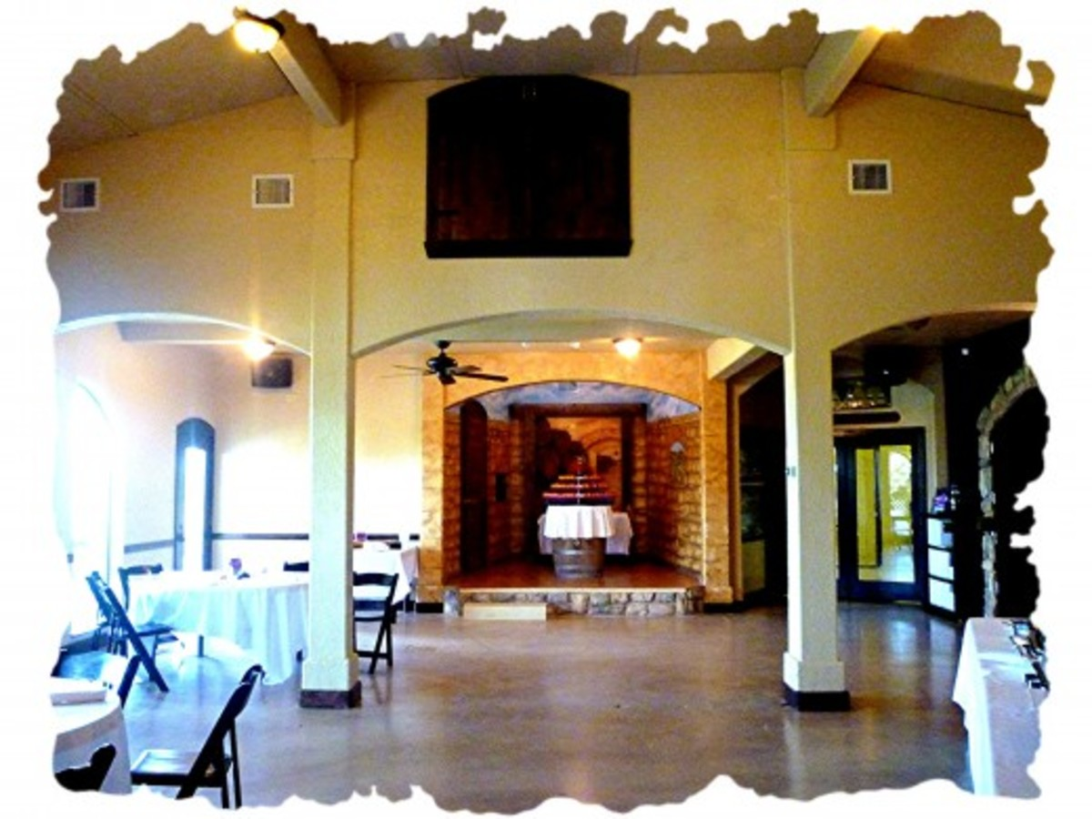 Large multi-purpose room inside Bernhardt Winery