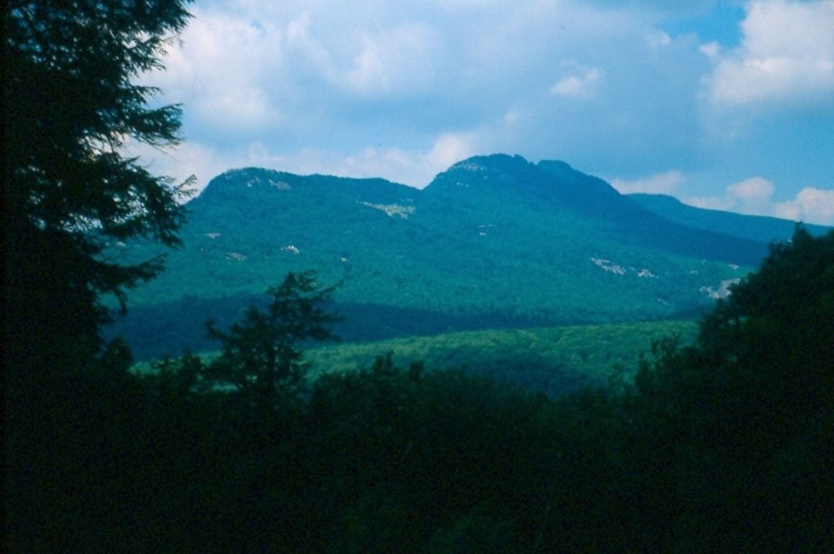 Grandfather Mountain from the Blue Ridge Parkway.