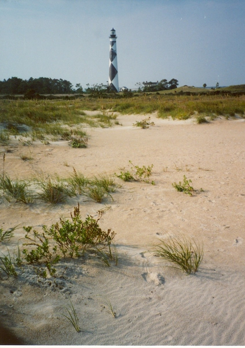 The lighthouse at Cape Lookout.