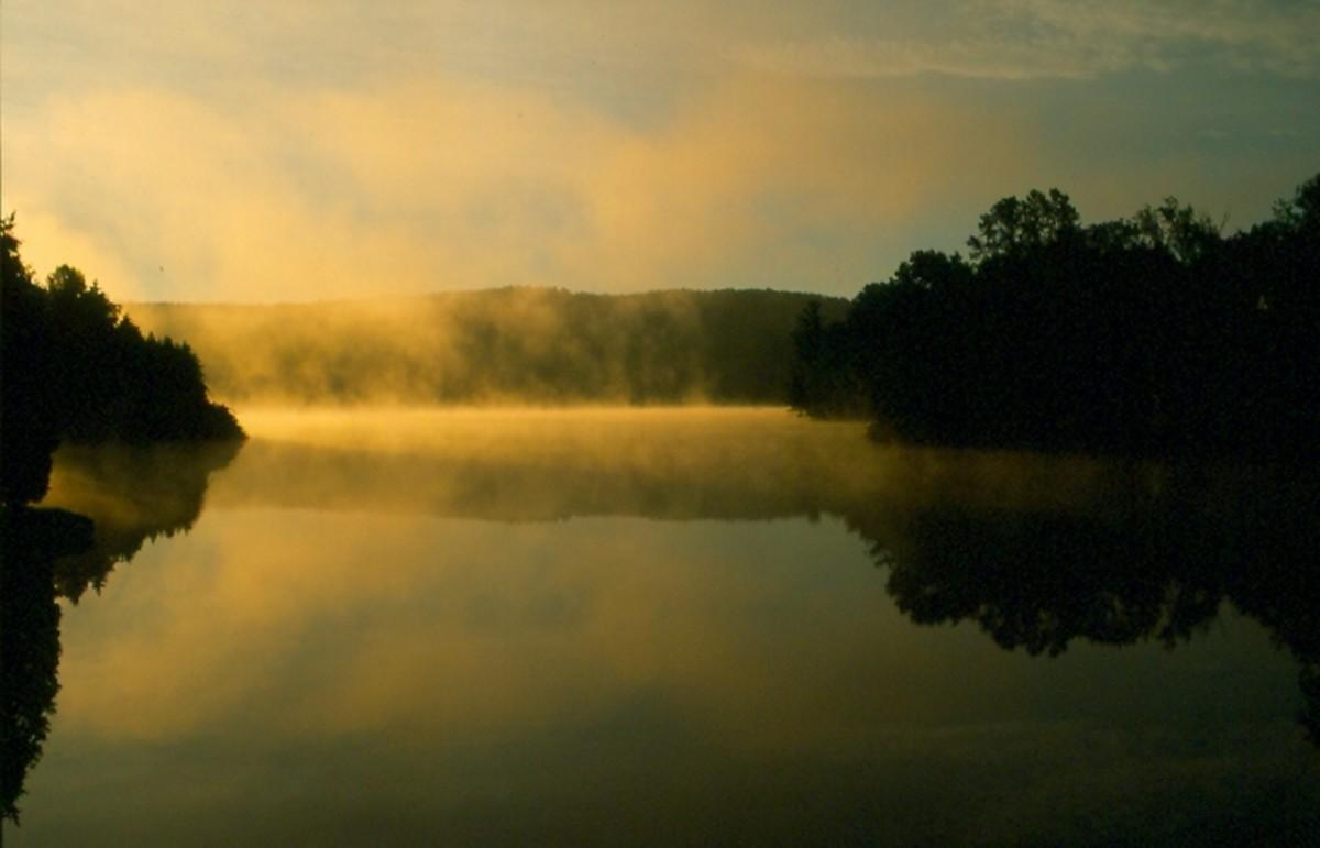 Sunrise over Silver Lake, Barnard, Vermont.