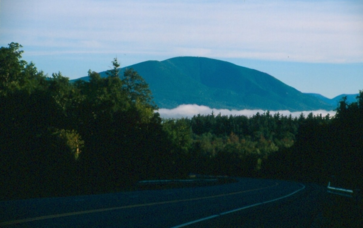 Mount Equinox from Route 7. You can faintly make out the hotel at the summit.